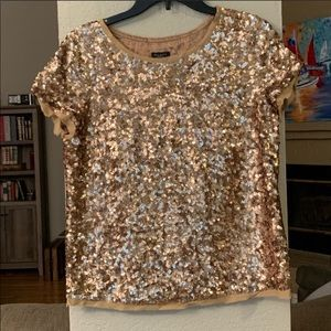 Talbots Gold Sequin Top, Never Worn